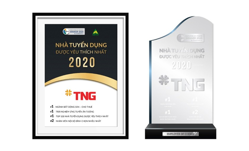 """TNG Holdings Vietnam thắng lớn nhiều hạng mục """"Employer of Choice"""" 2020 ảnh 1"""
