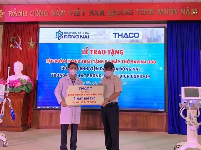 THACO trao tặng máy thở và 2 triệu kit test nhanh Covid cho các tỉnh miền Nam, Tây Nguyên ảnh 1