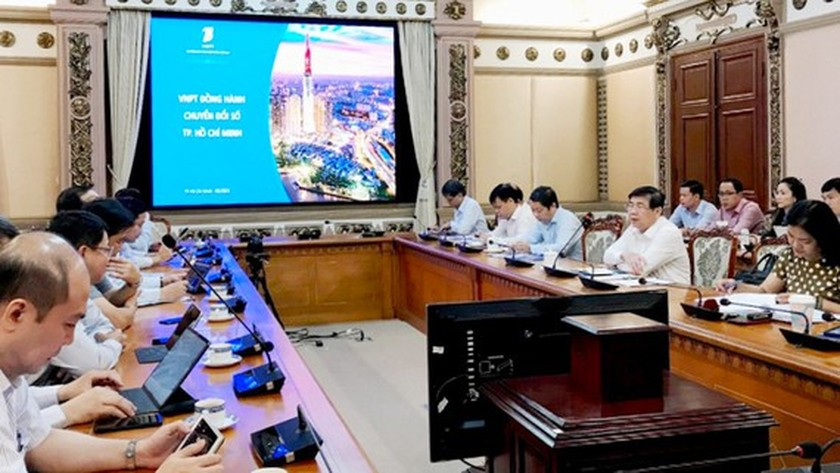 HCMC cooperates with VNPT to establish digital infrastructure, platforms ảnh 1