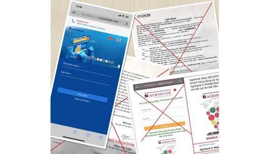 Commercial banks warn against fraudulent messages, websites ảnh 1