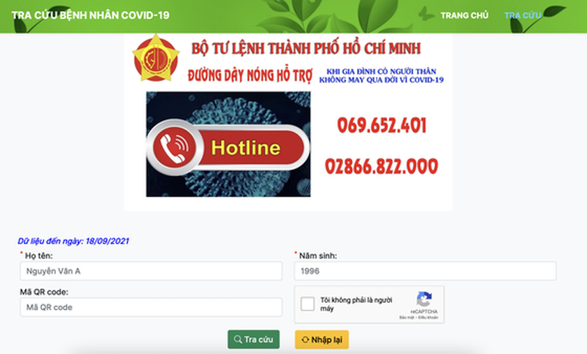 Application to search for people lost to Covid-19 piloted ảnh 2
