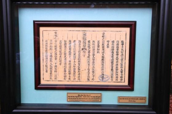 Trao tặng phiên bản Mộc bản về Đại thi hào Nguyễn Du - Danh nhân Văn hóa thế giới ảnh 4