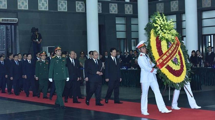 Memorial service of the State funeral for former President General Le Duc Anh ảnh 14