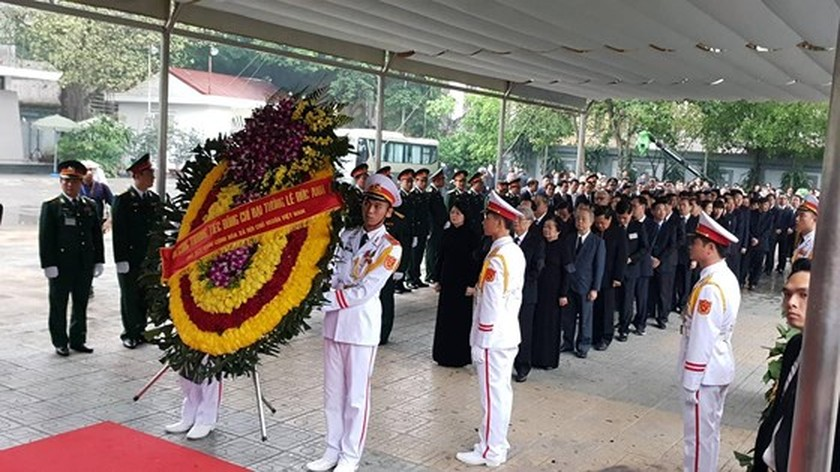 Memorial service of the State funeral for former President General Le Duc Anh ảnh 16