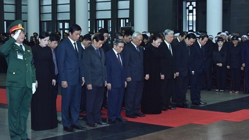Memorial service of the State funeral for former President General Le Duc Anh ảnh 29