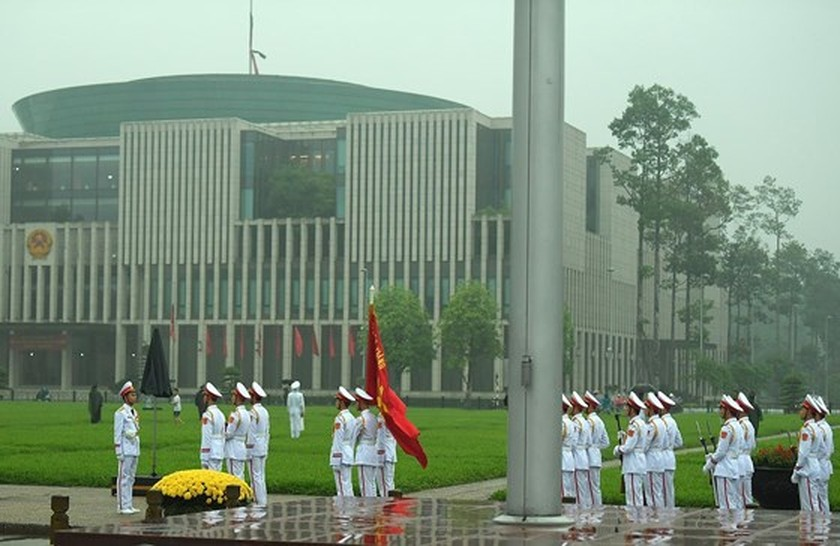 Memorial service of the State funeral for former President General Le Duc Anh ảnh 4
