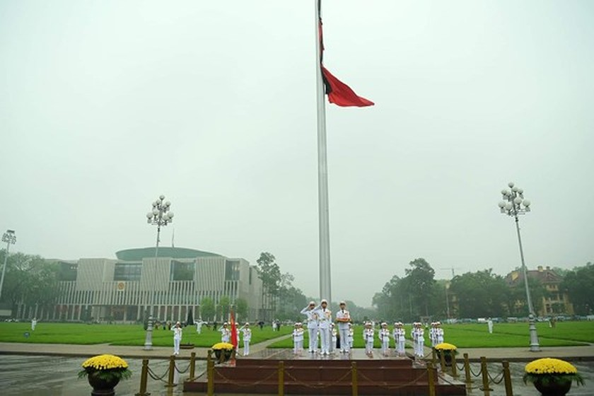 Memorial service of the State funeral for former President General Le Duc Anh ảnh 8