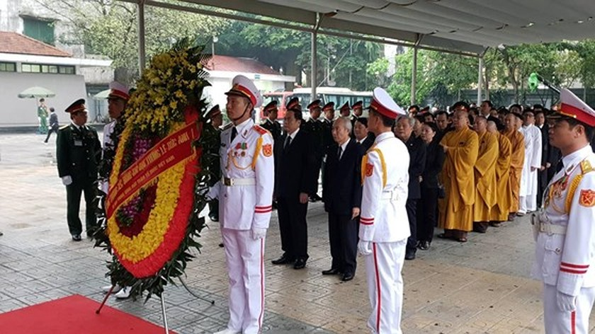 Memorial service of the State funeral for former President General Le Duc Anh ảnh 18