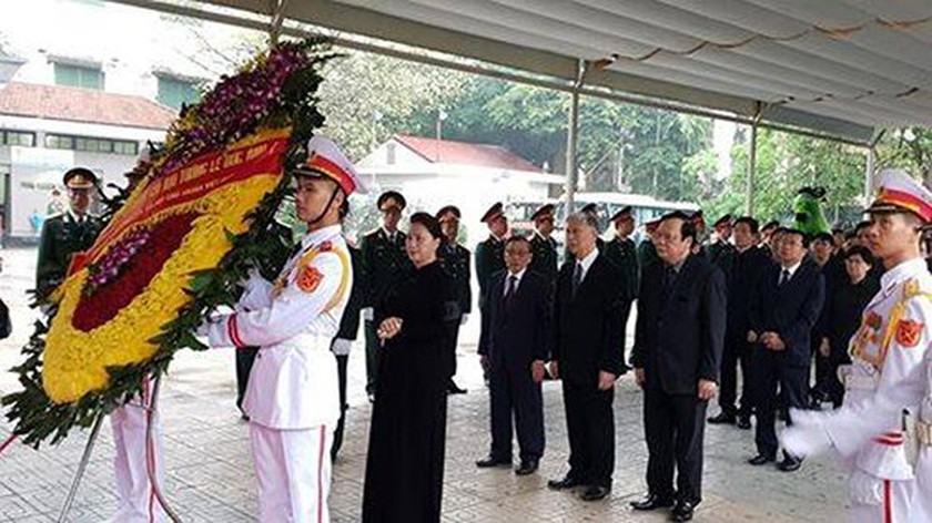 Memorial service of the State funeral for former President General Le Duc Anh ảnh 15