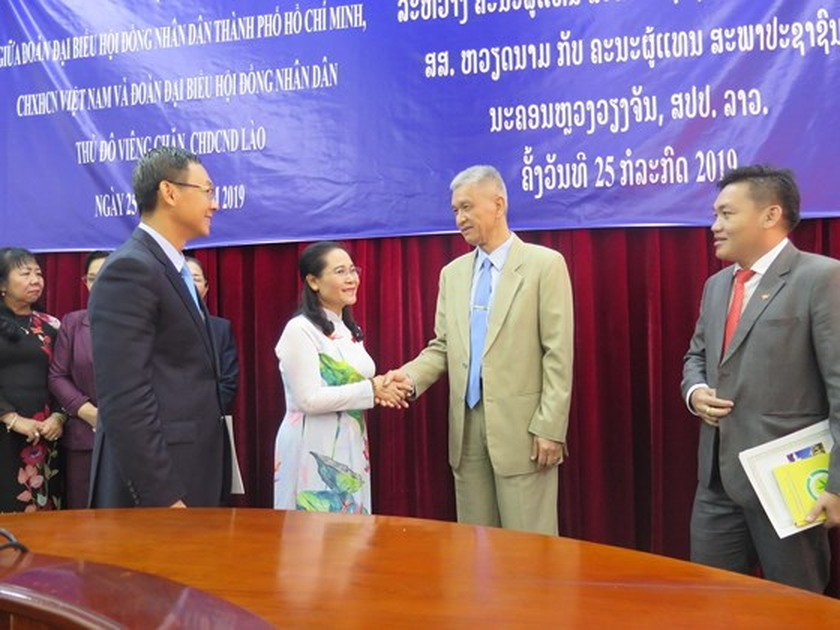 HCMC keens on boosting partnership with Vientiane ảnh 1