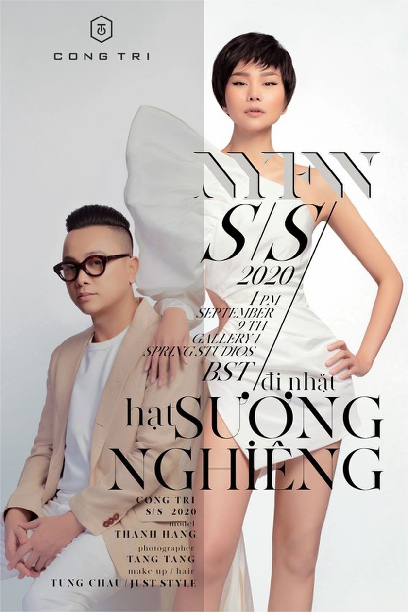 Leading model Thanh Hang chosen as the face of Cong Tri's fashion poster ảnh 1