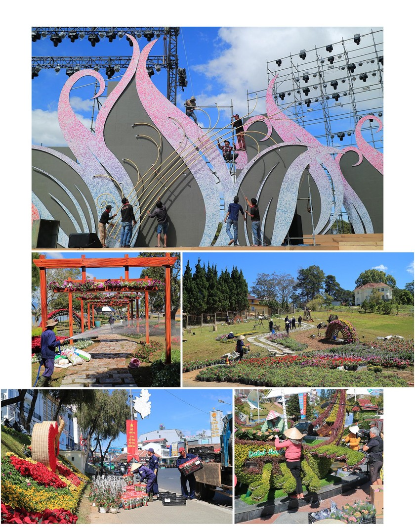 Lam Dong province ready for upcoming Da Lat Flower Festival ảnh 6