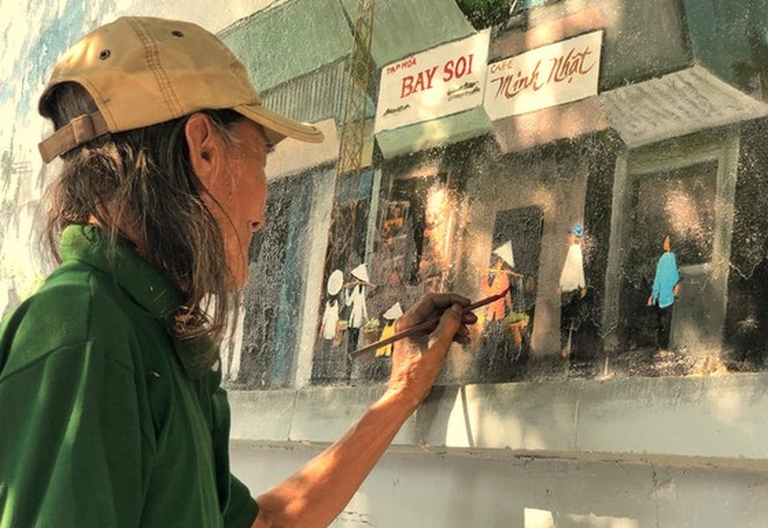 Can Tho City's mural painting street to charm visitors ảnh 1