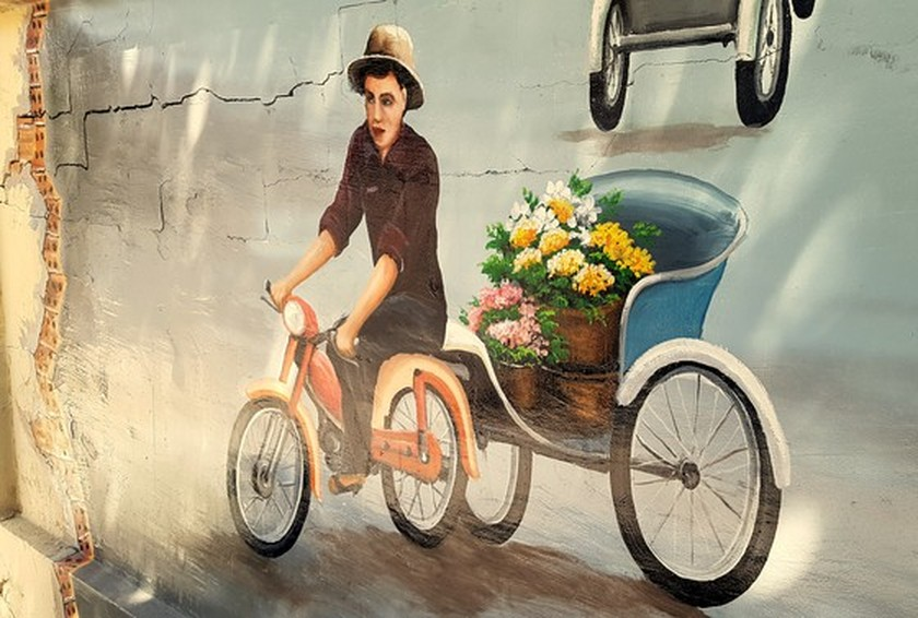 Can Tho City's mural painting street to charm visitors ảnh 4