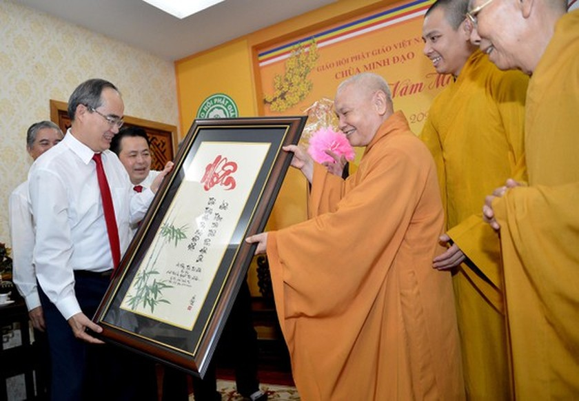 HCMC's leaders extends Tet greetings to religious dignitaries ảnh 2