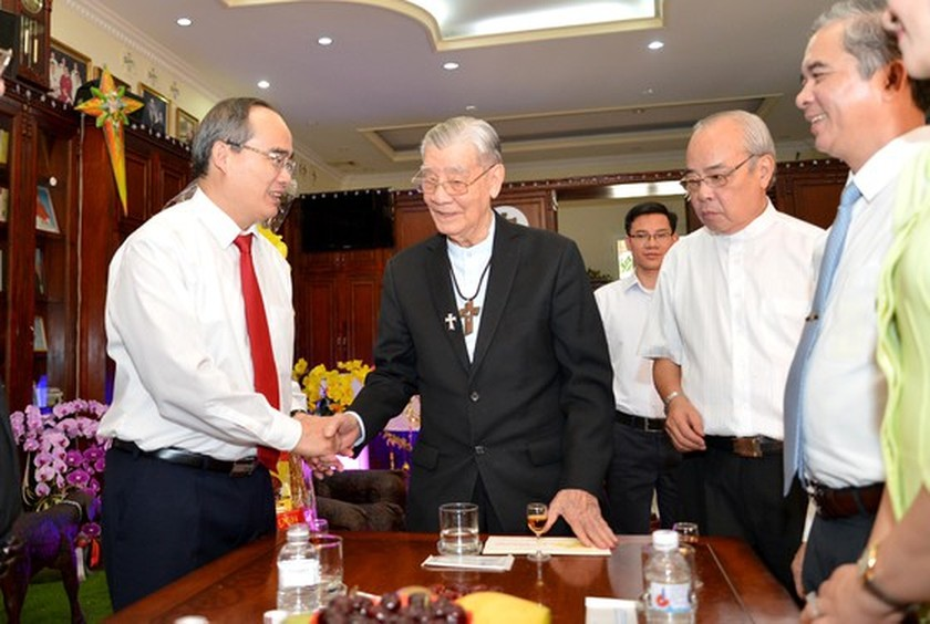 HCMC's leaders extends Tet greetings to religious dignitaries ảnh 3