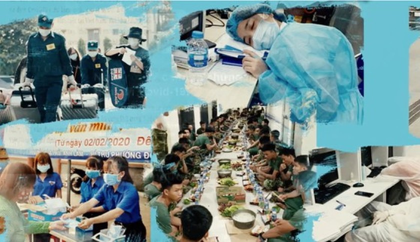 Vietnamese artists send heartfelt thanks to frontline soldiers against COVID-19 ảnh 1