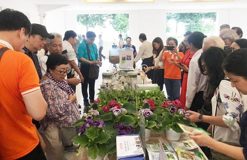More than 100 artists join trip to visit city's key works ảnh 4