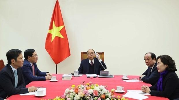 Prime Minister holds phone talks with US President ảnh 1