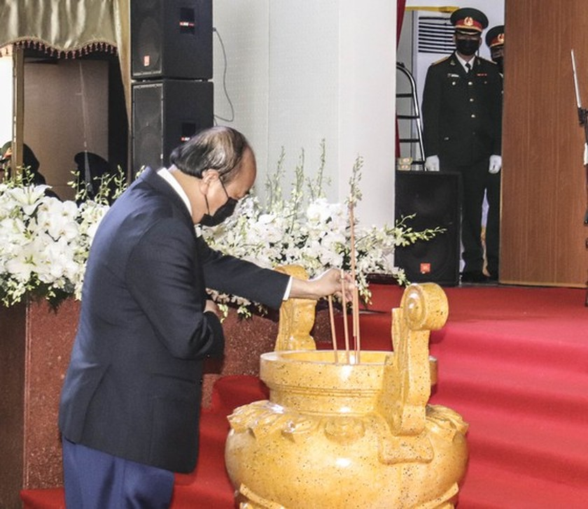State funeral in Hanoi, Ben Tre for former Deputy PM Truong Vinh Trong starts  ảnh 2