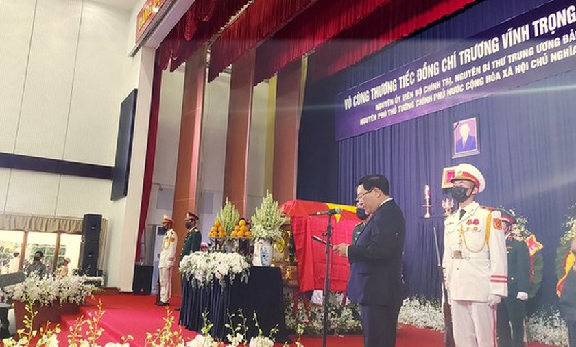 Former Deputy Prime Minister Truong Vinh Trong laid at rest in his native land ảnh 5