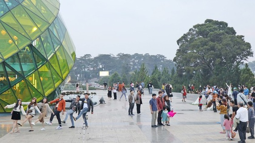 Da Lat City's tourism industry increasingly revived ảnh 1