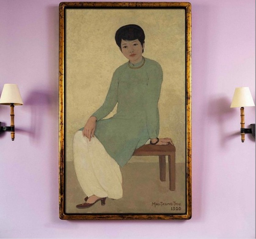 Vietnamese painting sold for a whopping US$3.1 million at Hong Kong auction ảnh 1