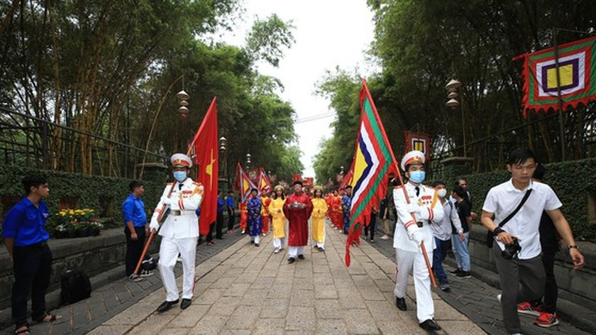 Hung Kings' death anniversary commemorated in HCMC ảnh 3
