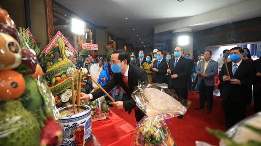 Hung Kings' death anniversary commemorated in HCMC ảnh 5