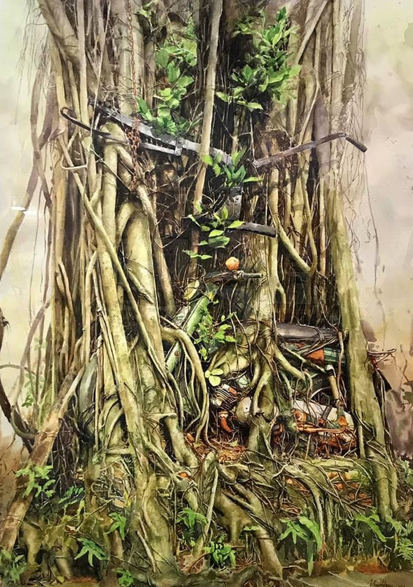 Painting exhibition of sacred land of Con Dao presented in HCMC ảnh 11