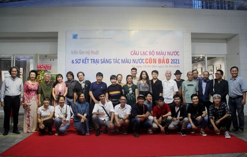 Painting exhibition of sacred land of Con Dao presented in HCMC ảnh 14