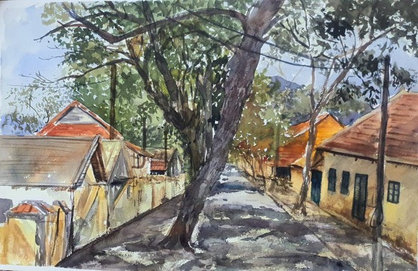 Painting exhibition of sacred land of Con Dao presented in HCMC ảnh 5