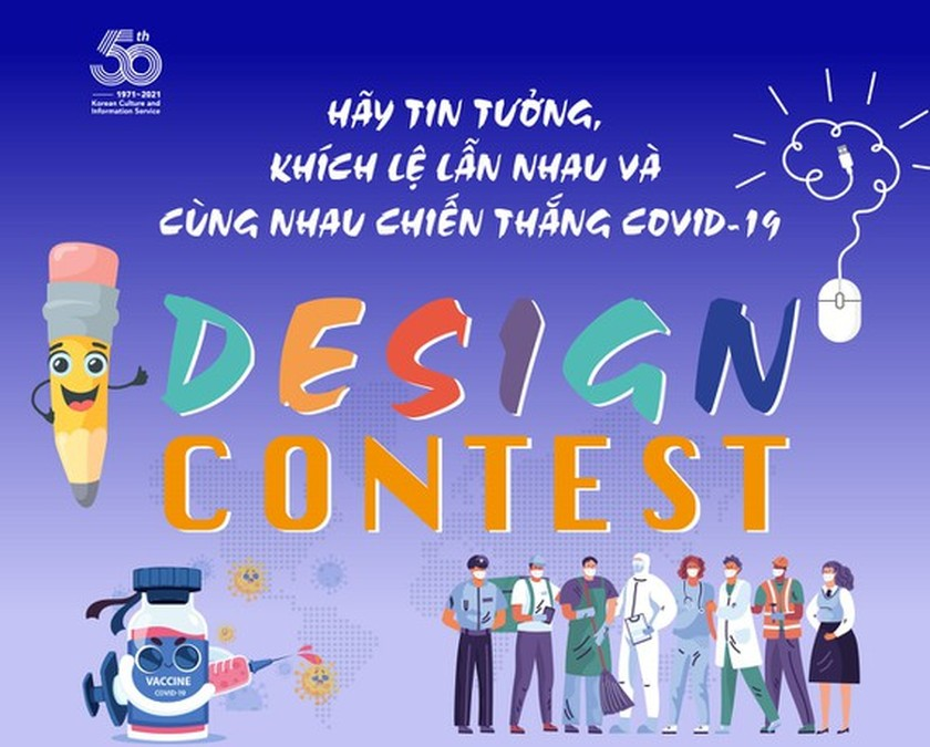 Design competition promoting Korea-Vietnam solidarity in face of virus launched ảnh 1