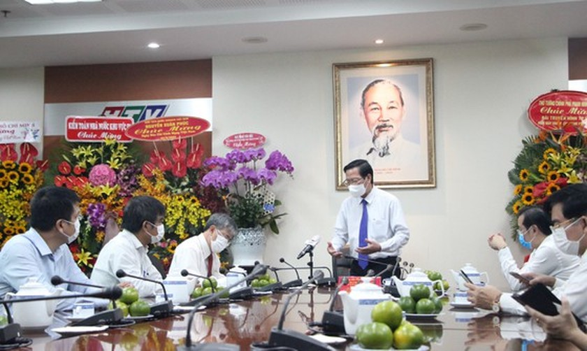 HCMC leaders extend greetings to press agencies ảnh 5