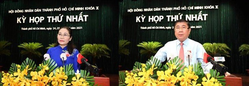 Top leaders of HCMC People's Council, People's Committee re-elected ảnh 1