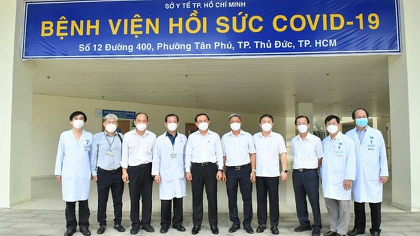 HCMC leaders visit newly opened Covid-19 Intensive Care Hospital ảnh 2