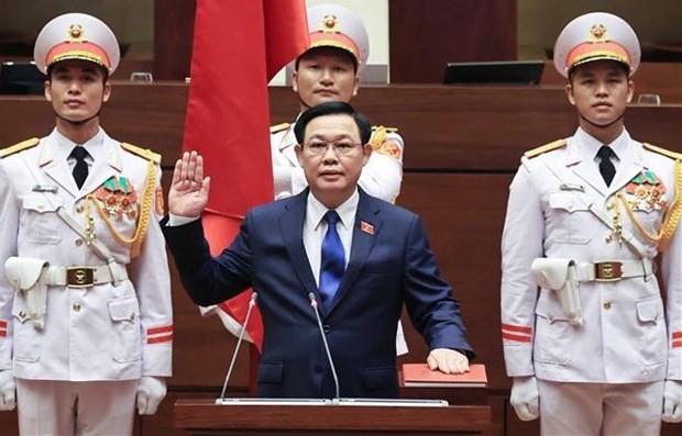 NA Chairman Vuong Dinh Hue takes oath ảnh 1