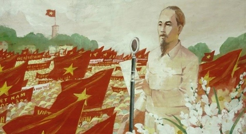 Online painting exhibition features August Revolution victory ảnh 2