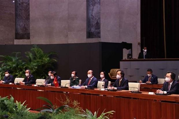 Vietnam, Cuba issue joint statement on President Nguyen Xuan Phuc's visit ảnh 3