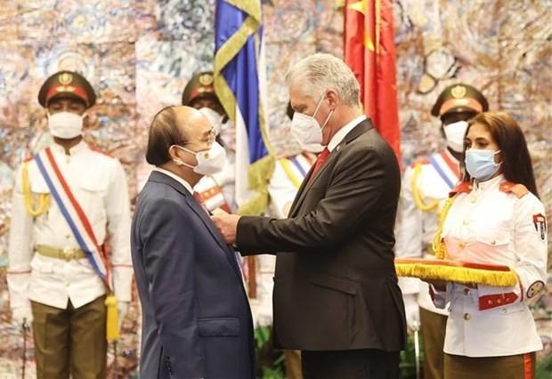 Vietnam, Cuba issue joint statement on President Nguyen Xuan Phuc's visit ảnh 1