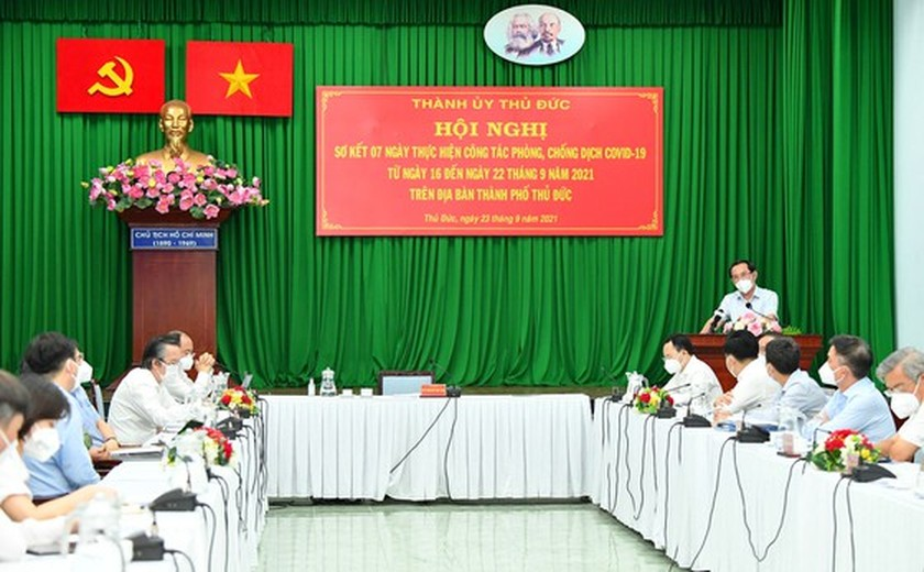 HCMC: Covid-19 pandemic basically under control in Thu Duc City, districts ảnh 1