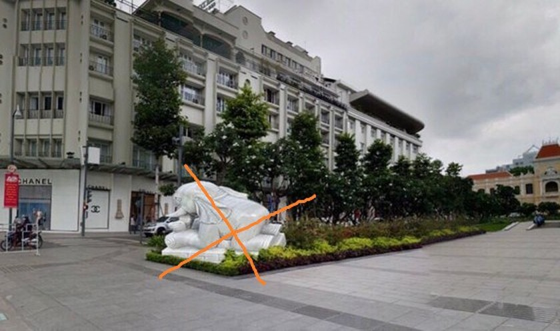 Photos of stone statues of elephant on Nguyen Hue walking street are fake news ảnh 2